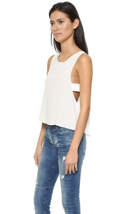 VEDA Marfa Crop Top in White available on @shopbop