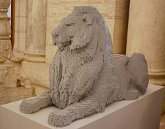 Nathan Sawaya's LEGO Brick Art: Lions For The New York Public Library