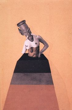 Hannah Höch German), Untitled, from the series: from an Ethnographic Museum, Collage. From the Ethnographic Museum series, 17 works that constitute an epic foray into the notion of alien cultures and female identity. Dada Collage, Collage Artists, Surrealist Collage, Collages, Collage Illustrations, Piet Mondrian, Photomontage, Hannah Hoch Collage, Hannah Höch