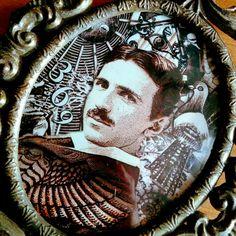 Nikola Tesla Portrait Framed Art print of the Master by TRILODEON #tesla