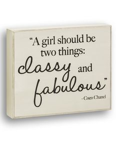 Love this 'Classy & Fabulous' Wall Sign on #zulily! #zulilyfinds