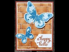 Sponging Technique for Brick Wall Embossing Folder from Stampin' Up! - YouTube