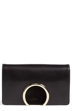 Chloé 'Gabrielle' Leather & Suede Clutch available at #Nordstrom