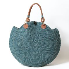 """New Cheap Bags. The location where building and construction meets style, beaded crochet is the act of using beads to decorate crocheted products. """"Crochet"""" is derived fro Chloe Handbags, Tote Handbags, Purses And Handbags, Leather Handbags, Crochet Shell Stitch, Basket Bag, Crochet Handbags, Knitted Bags, Handmade Bags"""