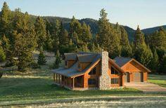 Pretty little log home
