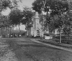 De Protestantse Kerk in Bandung. 1880-1908. Bandoeng, West java, Indonesië