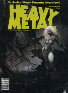 Cover by Frank Frazetta - Frank Frazetta interview Arte Heavy Metal, Heavy Metal Comic, Heavy Metal Rock, Metal Fan, Frank Frazetta, Metal Magazine, Magazine Art, Magazine Covers, Pulp Magazine