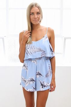 ulysses playsuit - blue | Esther clothing Australia and America USA, boutique online ladies fashion store, shop global womens wear worldwide, designer womenswear, prom dresses, skirts, jackets, leggings, tights, leather shoes, accessories, free shipping world wide. – Esther Boutique