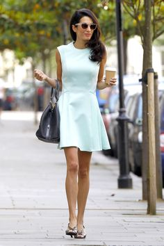 Amal Clooney style: When: June 13, 2014 Where: London   - HarpersBAZAAR.com
