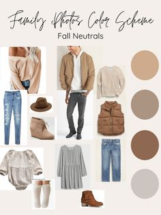 Planning Trendy but Affordable Fall Outfits Neutral Family Photos, Spring Family Pictures, Family Photo Colors, Family Photos What To Wear, Winter Family Photos, Family Pics, Family Photography Outfits, Family Portrait Outfits, Clothing Photography