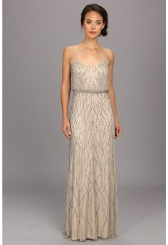 Adrianna Papell Long Deco Bead Blouson - A perfect bridesmaid dress for an Art Deco wedding Bridesmaid Dresses, Prom Dresses, Wedding Dresses, Bridesmaids, Bridesmaid Ideas, Art Deco, Art Nouveau, Beaded Gown, Stunning Dresses