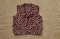 Studio Misha and Puff Popcorn Vest pattern
