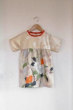 floral cotton sateen dress / tunic by SwallowsReturn on Etsy