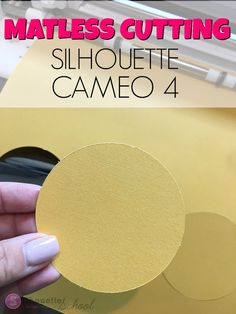 The Silhouette CAMEO 4 will be able to cut unlined materials - such as paper - without a cutting mat. While cutting mats will be a. Silhouette School Blog, Silhouette Cameo Machine, Silhouette Cameo Projects, Silhouette Design, Silhouette Studio, Silhouette Portrait, Cricut Tutorials, Scrapbook Paper Crafts, Scrapbooking