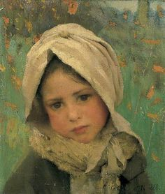 A Little Child (1888) - Sir George Clausen, R.A., R.W.S., R.I. - (English, 1852 - 1944)