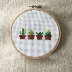 Working on some more succulent stitches!