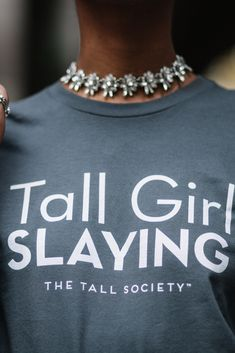Come checkout our long sleeve t-shirts with pretty cool customized messages only at The Tall Society. . #TheTallSociety #TallTribe #PlusIsEqual #CelebrateMySize #BodyPositivity #TallGirl #TallStyle #realbeauty #InstaStyle #Brunch #MeetUps #TeamTall #tallgirl #tallwomen #tallbopo #tallgirlproblems #tallpeopleproblems #tallmodel #tallpeople #Tallfashion #Events