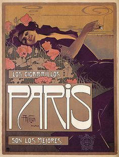 vintage posters | Paris Cigarettes - Vintage French