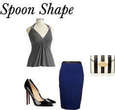Spoon Shape or shelf hips. bring balance to your shape with an outfit like this