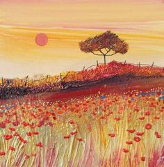 Artery Gallery News Blog: Beautiful Mixed Media Landscape Paintings from Monica Paton