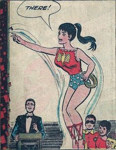 Wonder Girl in her original costume as seen in Teen Titans # 1 in 1966 when they join the Peace Corp and pick where they will go.