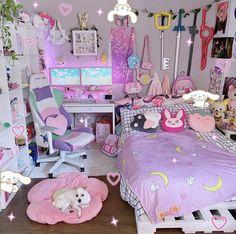 Room Design Bedroom, Room Ideas Bedroom, Bedroom Decor, Bedroom Designs, Cute Room Ideas, Cute Room Decor, Pastel Room, Pink Room, Neon Room