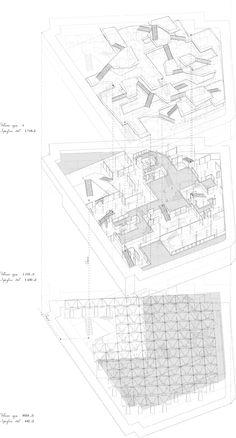 Desarrollo propuesta proyecto vivienda para un diseñador en París. ETSAM