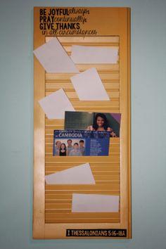 Jen's Stamp World: Prayer board