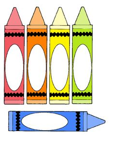 Blank crayon template art crafts for kids pinterest for Crayon labels template