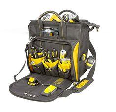 DEWALT Lighted Technician's Tool Bag DGL573 - http://toolsshack.com/dewalt-lighted-technicians-tool-bag-dgl573/