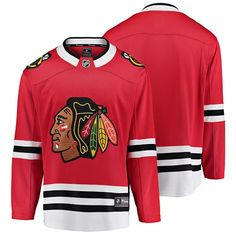 Chicago Blackhawks Breakaway Home Jersey Blackhawks Players, Blackhawks Jerseys, Chicago Blackhawks, Home And Away, Nhl, Pullover, Black And White, Sports, Sleeves