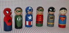 Superhero Peg People | Community Post: 21 Geeky Projects Fit For A Superhero