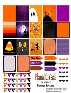 Free Halloween Planner Printable Stickers