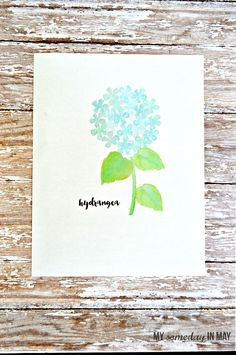 Free watercolor printable: Hydrangea featured on Ella Claire