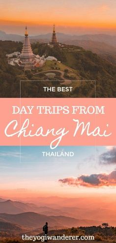 The best day trips from Chiang Mai, Thailand according to travel bloggers. Top destinations, temples and activities, including Doi Suthep temple, Elephant Nature Park, Doi Inthanon National Park, zipline, and much more. #ChiangMai #ChiangMaiDayTrips #Thailand