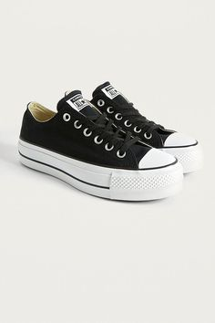 d0e7733c35b Slide View  2  Converse Chuck Taylor All Star Lift Black Platform Leather  Trainers Leather