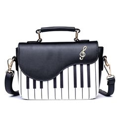 ff71d6ed2a27 Soomile New Fashion Piano Pattern Pu Leather Women s Flap Casual Ladies  Handbag Shoulder Bag Crossbody Messenger Bag Pouch Totes