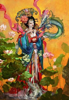 The Goddess of Lotus Roselle by lorland.chen