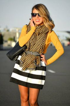 #Stripes And #Houndstooth  #Outfit