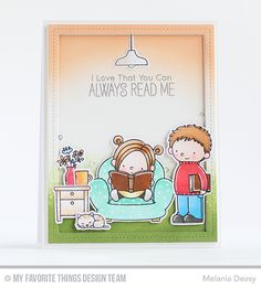 Our Story Stamp Set and Die-namics, Single Stitch Line Rectangle Frames Die-namics - Melania Deasy  #mftstamps