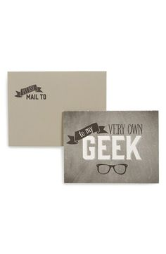 Wiley Valentine 'My Geek' Greeting Card