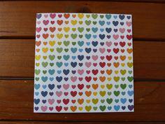 Carte Cœurs Arc-en-ciel par PommeBleue sur Etsy