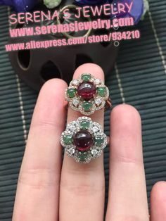 Find More Rings Information about 925 sterling silver Natural Mozambique garnet ring for women gem stone size 6*6mm decorates with green jade ring ,High Quality silver fabric,China stone cabochon Suppliers, Cheap stone vase from Serena's Jewelry on Aliexpress.com