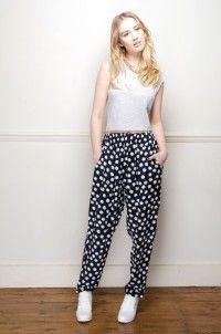 Retro 90's daisy print joggers - Trousers - Womens Vintage | Retro & Vintage Clothes UK