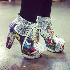 Minus the heel part and I'd totally wear these! So true for me to, make 'em flats, and they would be totally awesome shoes!!