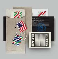 Design touches everything...including World Cup!!! Best of luck to the all the teams | World Cup Stamps 2014 by MAAN Design Studio | The Dieline |