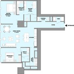 Two Bedroom Residence 2 Bedrooms 2 Bathrooms Total Area 135sq.m.