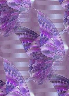 Lavender Butterfly wall paper