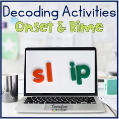 Onset and Rime Building Word Fluency Activities for a great worksheet alternative! These phonics games are for teaching your students to decode words into onset and rimes during guided reading small group time, reading interventions, or literacy centers for first grade, second grade and third grade. #phonics #decoding #guidedreading #readinginterventions #literacycenters #fluency #conversationsinliteracy #classroom #elementary