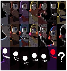 Rebonica's drawing of Five Nights at Freddy's 1 and 2.
